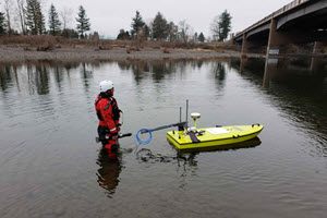 CEE-USV™ Combined Bathymetry and Water Quality Surveys.