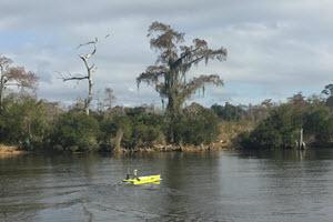 CAJUN-USV in Action on Lake Pontchartrain, Louisiana USA
