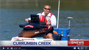Gold Coast Mayor Tom Tate Describes CEE HydroSystems S.A.M. Jet on Channel 9 News.
